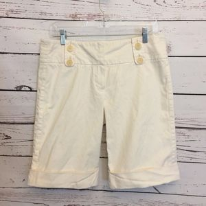 Trina Turk Off White Bermuda Shorts